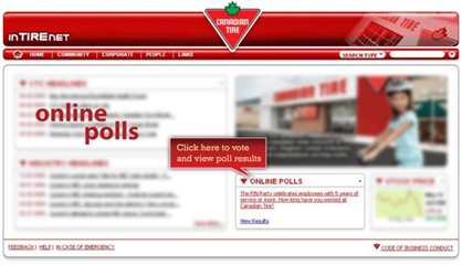 Online Polls are launched from the home page