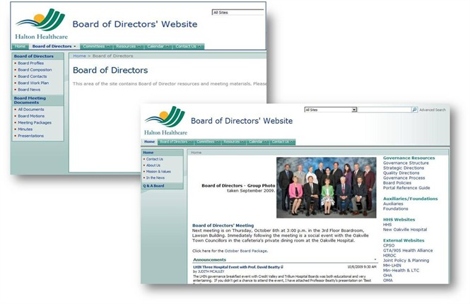 The Board of Directors' Portal is easy to update, and significantly reduces the heavy dependance on paper records