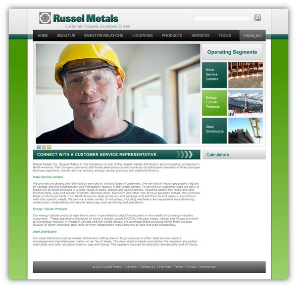 Russel Metals new home page