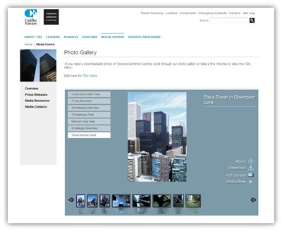 The Envision IT Photo Viewer allows visitors to view and interact with property photographs